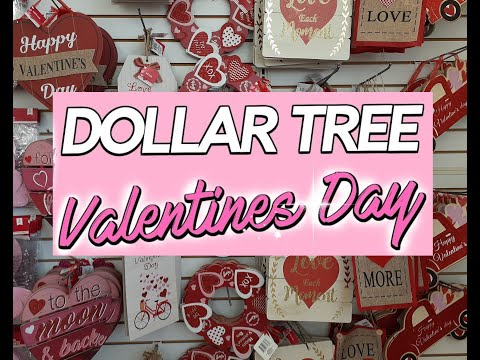 💞💜 Dollar Tree Valentine's 2020 Day Walk Through!! Decor & More!! 💋😍