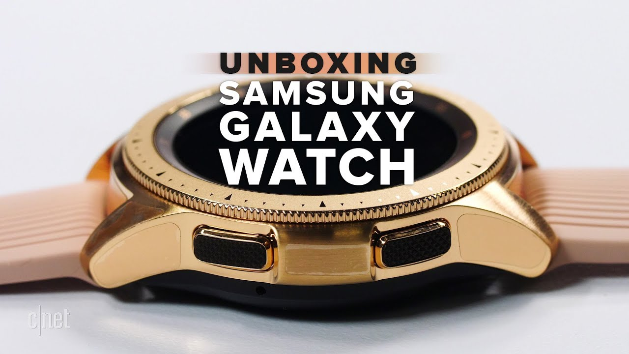 22479a637 Samsung Galaxy Watch Rose Gold unboxing - YouTube