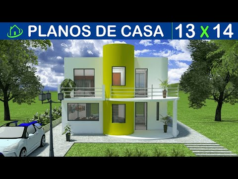 Planos casa moderna 2 pisos 6m x 12m villa del sol doovi for Casa moderna minimalista interior 6m x 12 50 m