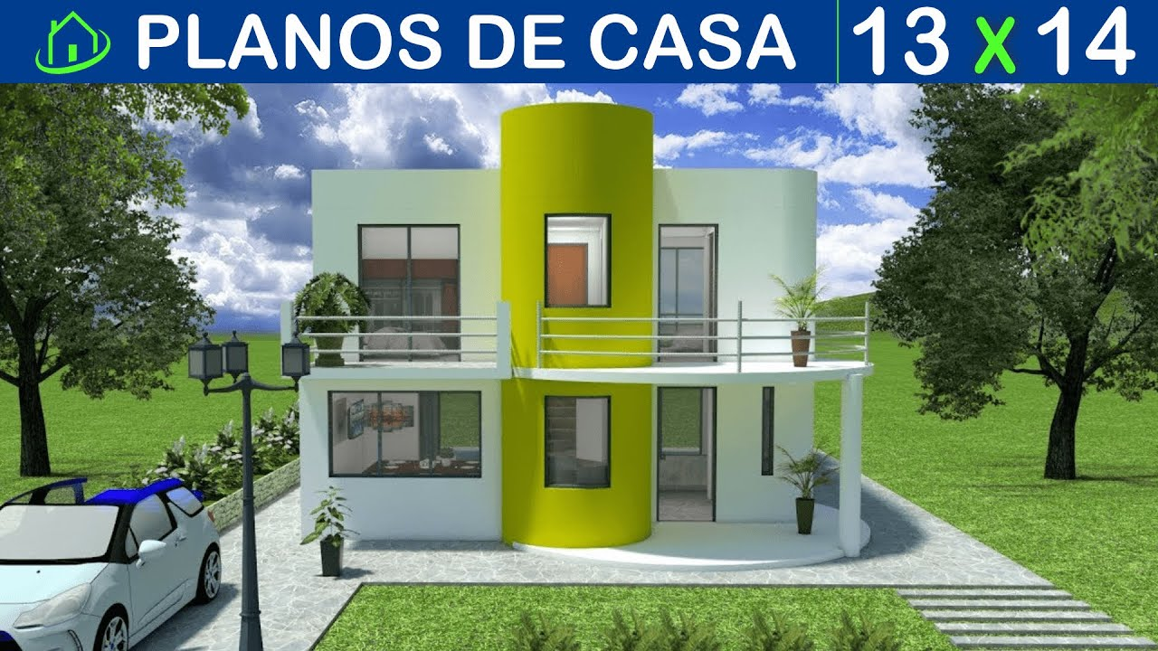 Dise os planos 3d casas 2 pisos minimalista sketchup for Casa minimalista 2 dormitorios