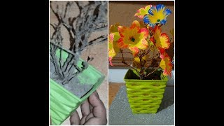 Dead plant craft Idea || Reuse Idea || Flower pot making with waste material