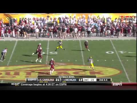 DJ Swearinger vs Michigan (2013 Bowl)
