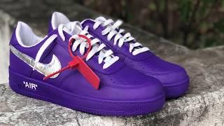 """Custom Off-White Nike Air Force 1 """"Grape"""""""