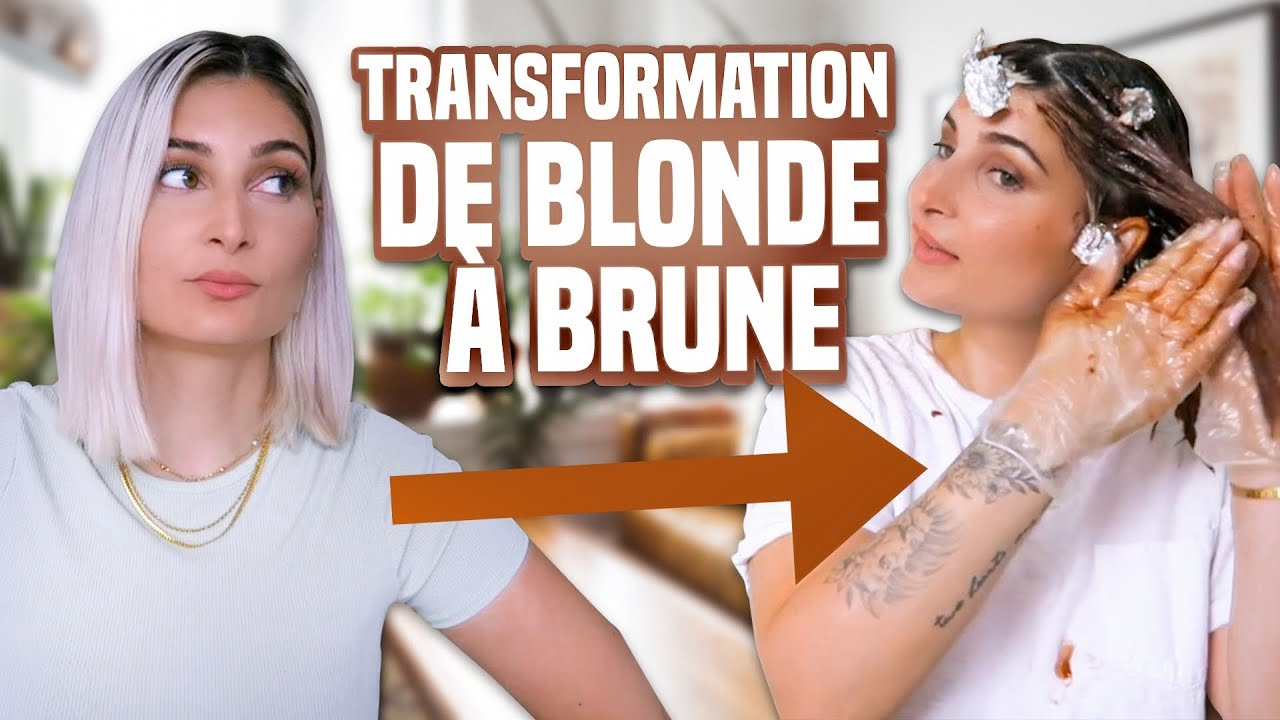 Elle passe de BLONDE à BRUNE en direct ! 😯