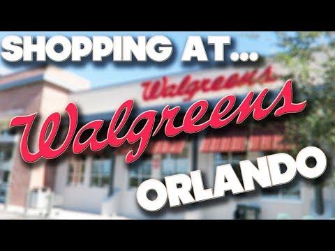 SHOPPING AT - WALGREENS - ORLANDO - FLORIDA