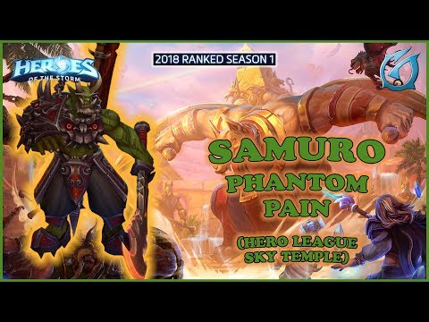 Grubby | Heroes of the Storm - Samuro - Phantom Strike Build - HL 2018 S1 - Sky Temple