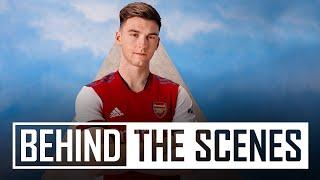 Behind the scenes at the 2021/22 Arsenal x adidas home kit shoot