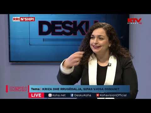 LIVE Në DESKU - Kryeparlamentarja Vjosa Osmani