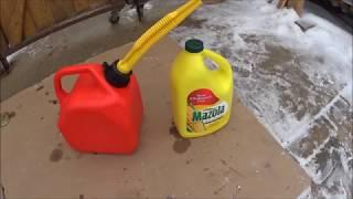 Vegetable Oil as Lawnmower Fuel