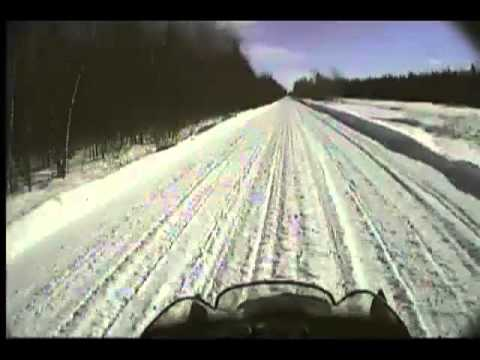 Fastest Snowmobile trail on the Planet
