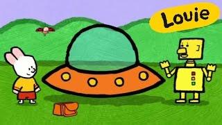 Platillo volador - Louie dibujame un platillo volador | Dibujos animados para niños