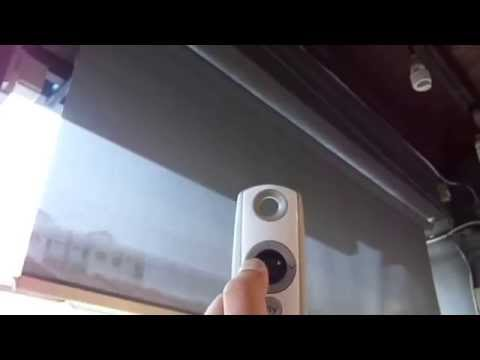 Motorized Outdoor roller blinds by Singapore curtains and window blinds supplier