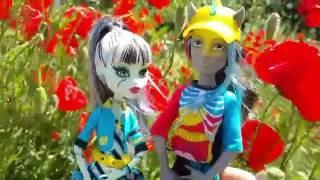 Видео для девочек. Куклы Монстер Хай - Нейтон и Френки в маках