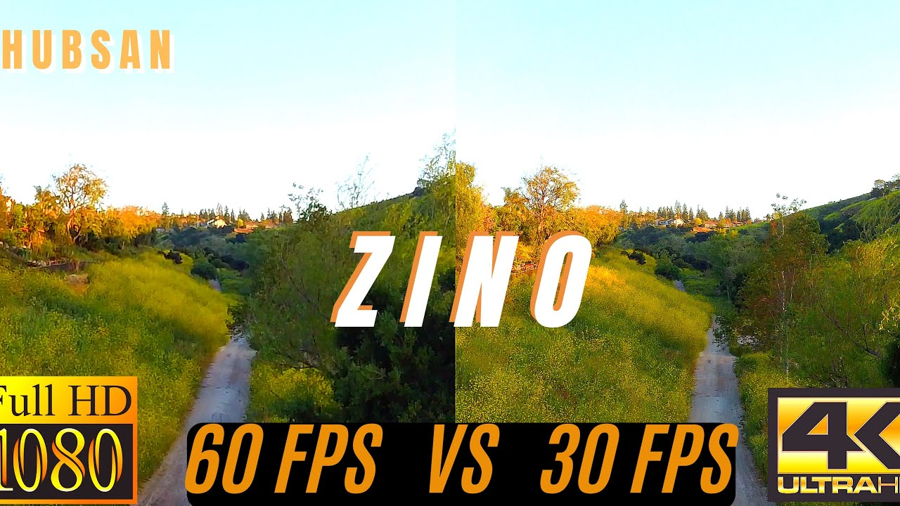 WHICH IS BETTER? 1080P 60FPS vs 4K 30FPS - Hubsan Zino Camera Test