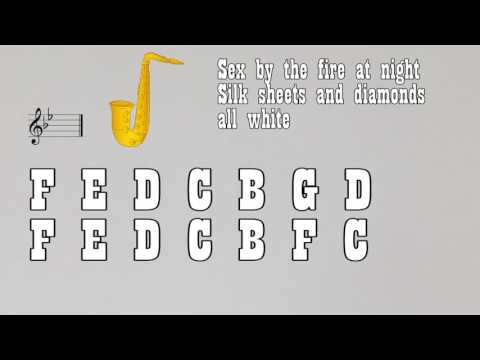 That's what i like (Bruno Mars) for Eb Alto Sax {Notes}