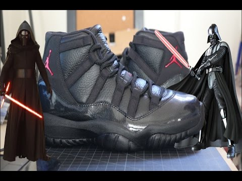 7bf0d8bda8f How To Dye Soles and Dirty Midsoles Tutorial! Custom Dark Side 11s ...
