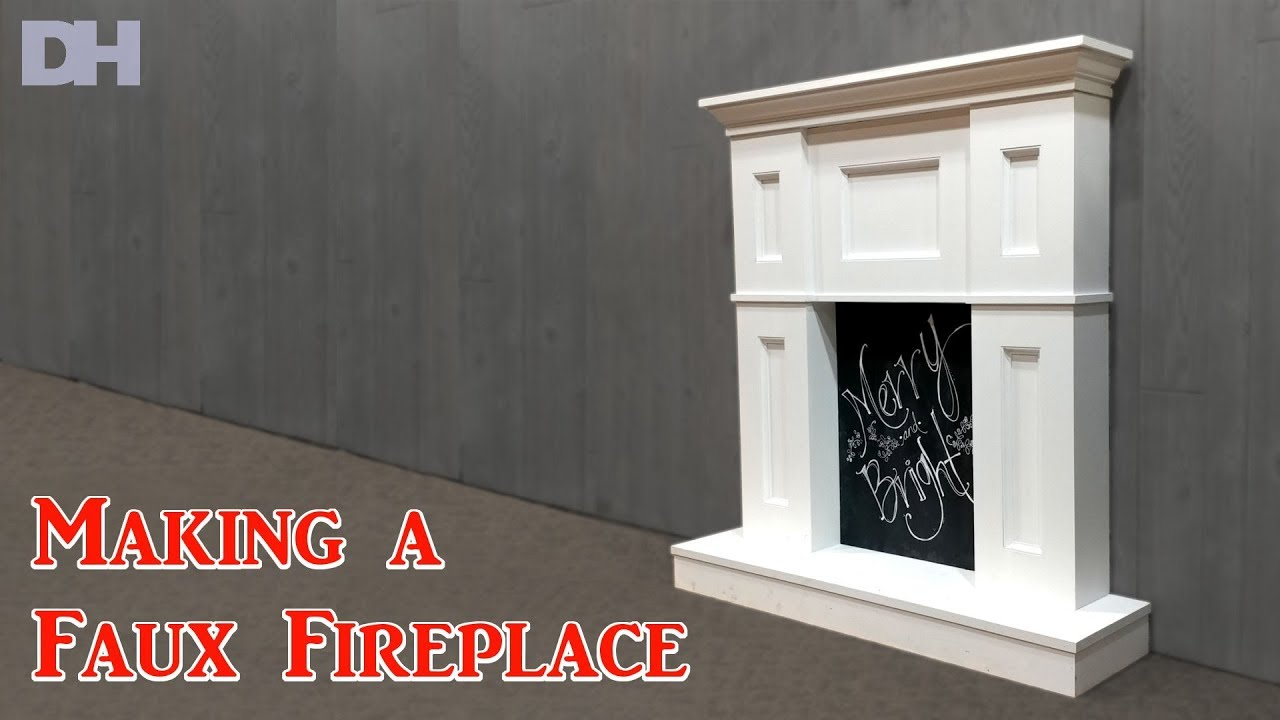 Making A Faux Fireplace Youtube