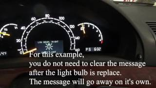 Clearing a Mercedes Benz Warning Message