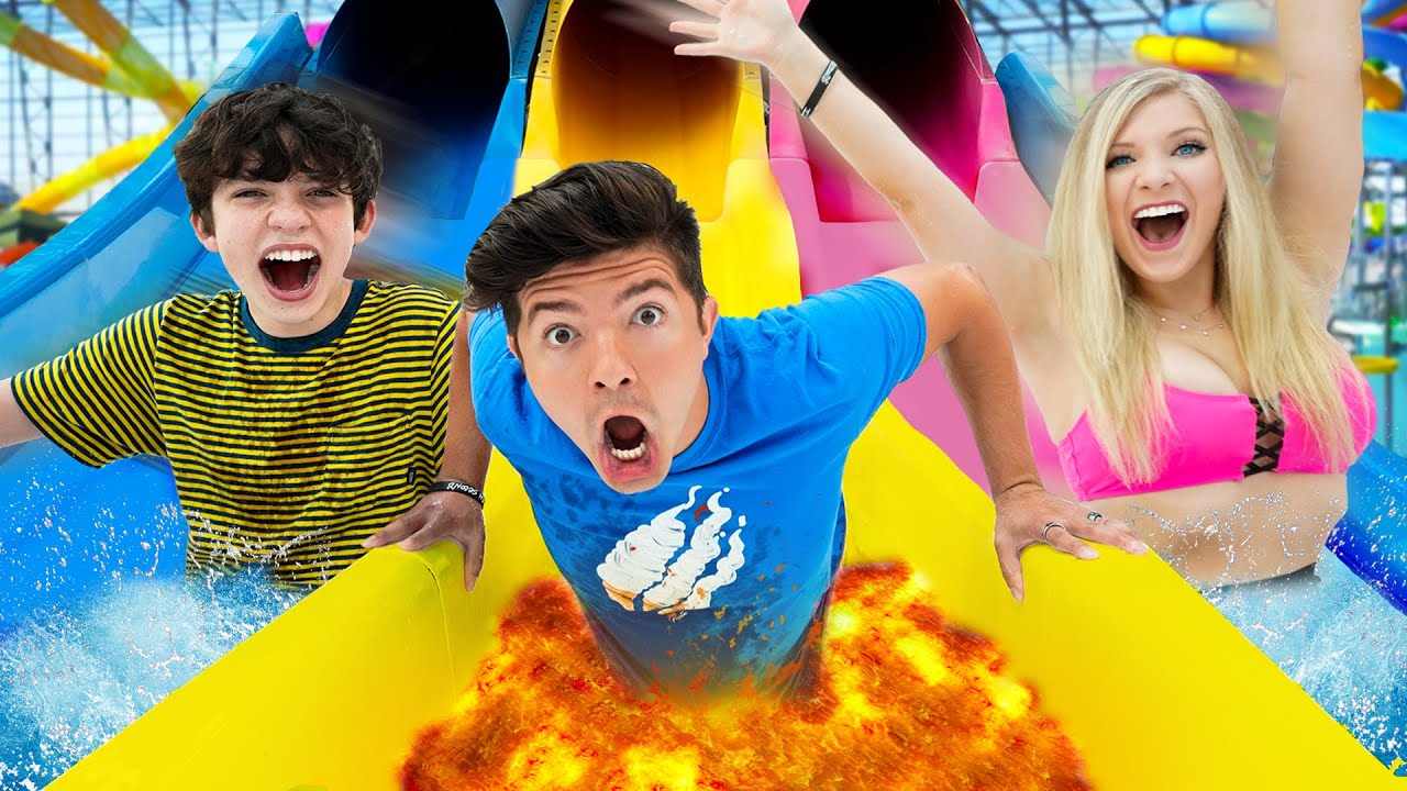 Don T Choose The Wrong Slide Water Park Challenge Youtube