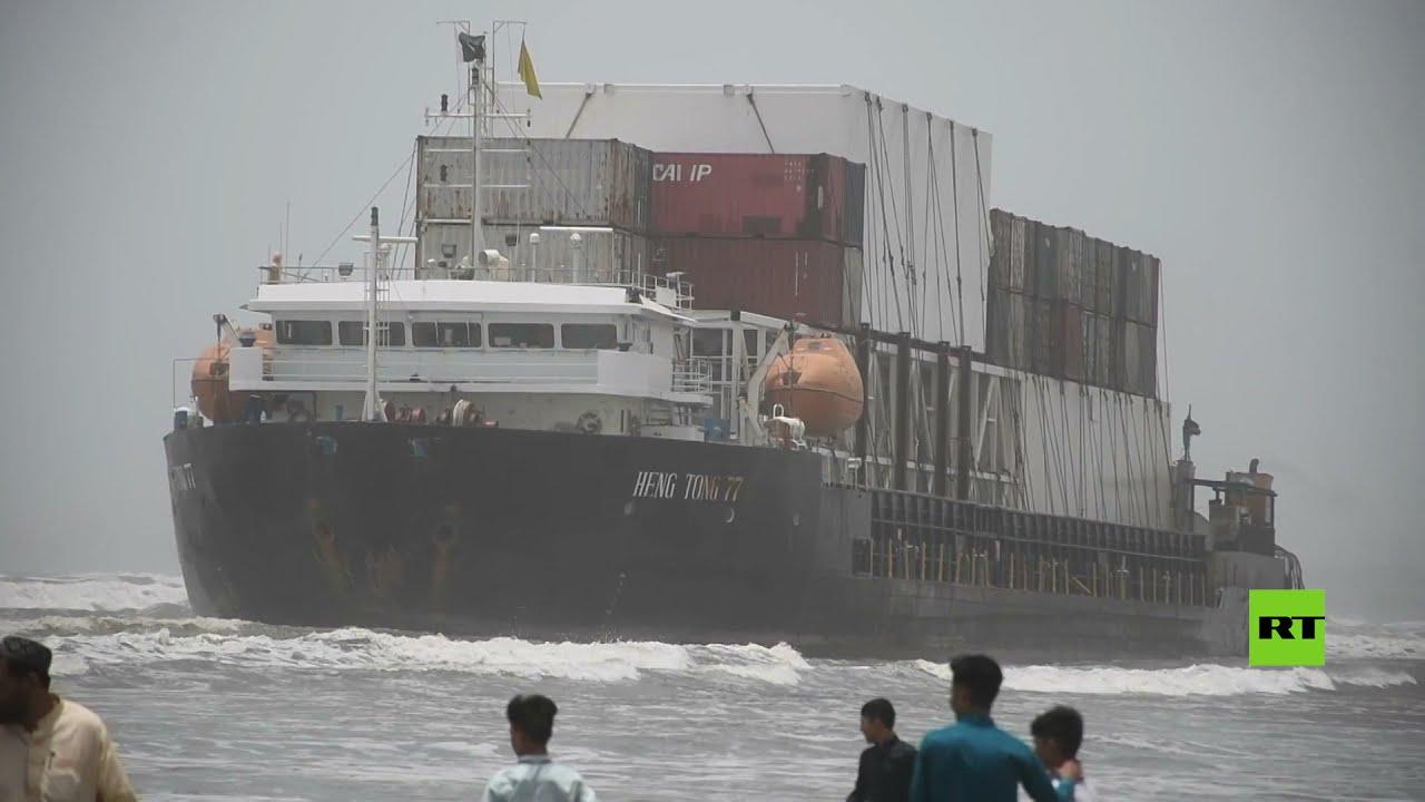 جنوح سفينة شحن كبيرة قرب السواحل الباكستانية  - نشر قبل 18 دقيقة