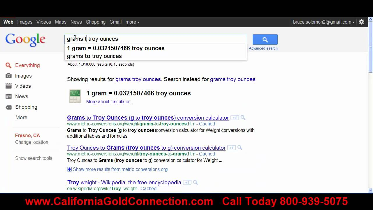 Gold Conversion Calculator Google