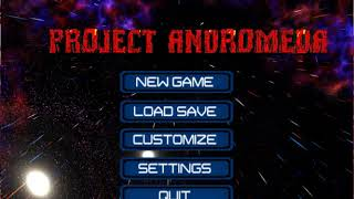 Project Andromeda Indie Game - New Main Menu