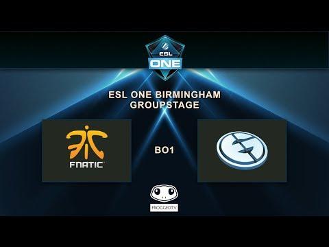 [ESL ONE BIRMINGHAM] - FNATIC vs EG - Group GSL - Opening Match