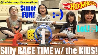 Toy Car Racing Playtime Fun! NEW Hot Wheels Diecast Cars Unboxing and Racing with Hulyan and Maya