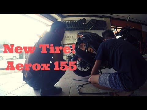 AEROX 155 CHANGE TIRE | MOTOVLOG