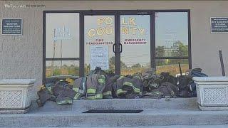 Group Of Volunteer Firefighters Walk Off Job