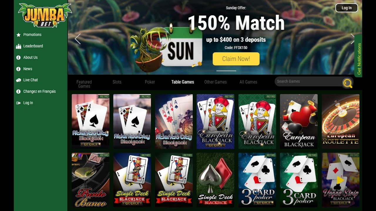 No Deposit Bonus For Jumba Bet Casino Youtube