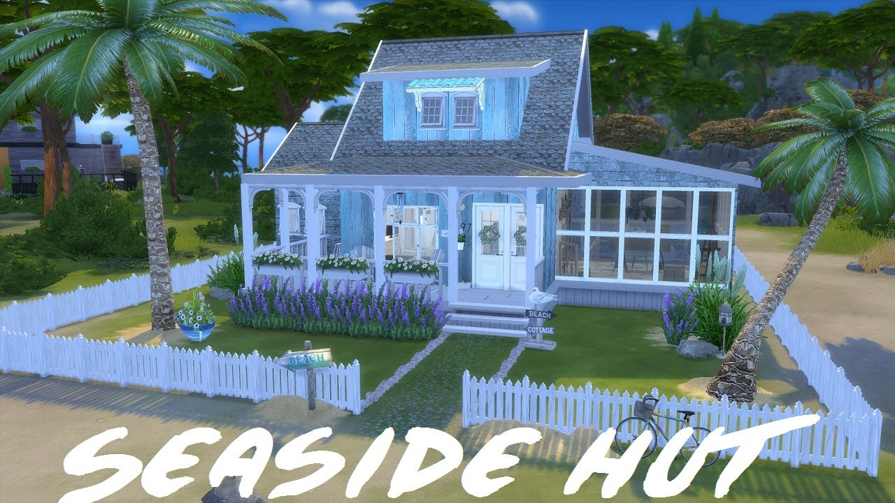 Hanging Chair The Sims 4 Orange Gaming Speed Build Beach House With Cc Links Youtube