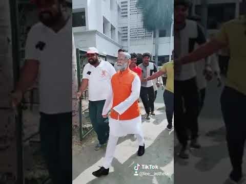 Narendar Modi realistic cosplay at New College🔥👑