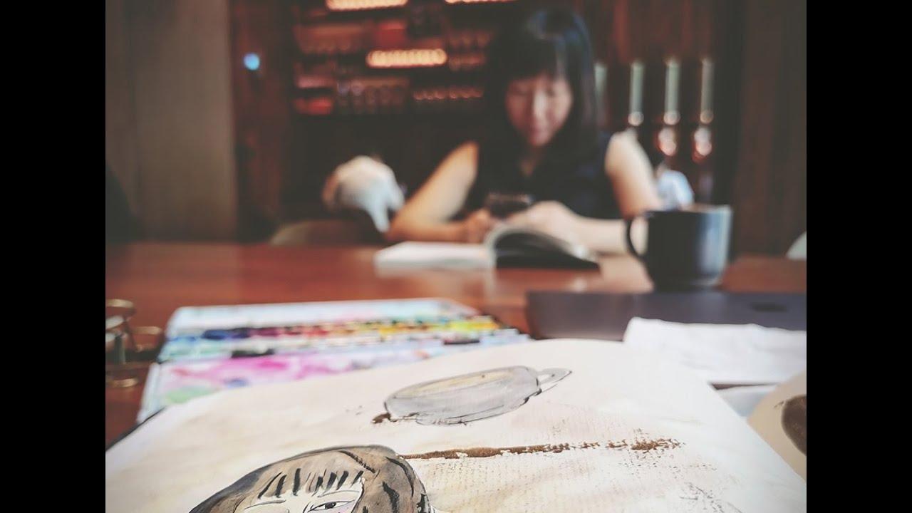 绘画作品Artworks:《咖啡店的Sandy》Sandy