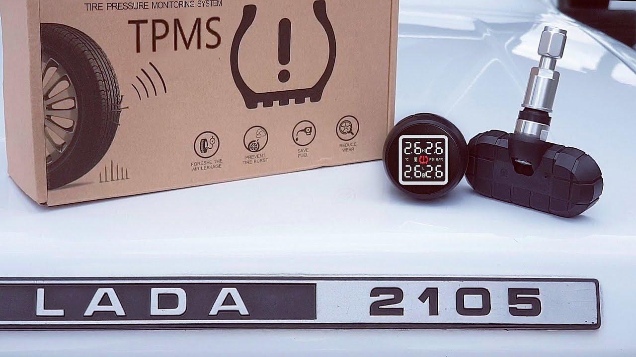 Датчики давления TPMS с АлиЭкспресс на ВАЗ 2105. ЛЕТО-ЗИМА. Обзор, установка и настройка.