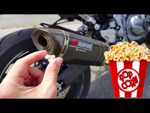 J'AI FAIS DU POP-CORN AVEC MA MOTO ! 🍿 Kawasaki Z900 🏍️ #DÉFI
