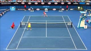 Victoria Azarenka wins amazing point - Australian Open 2015
