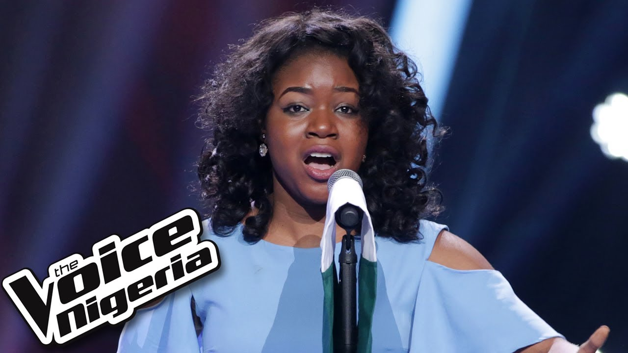 """Image result for Sandra Osamor sings """"Nigerian National Anthem"""" / Blind Auditions / The Voice Nigeria Season 2"""