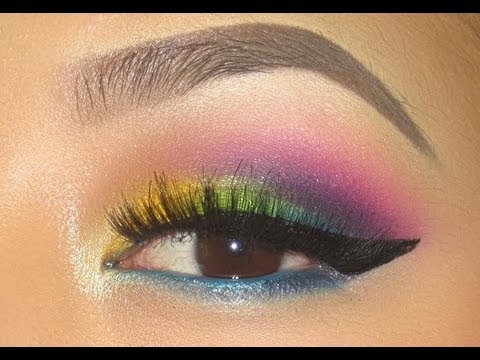 funky  colorful eyeshadow tutorial  youtube