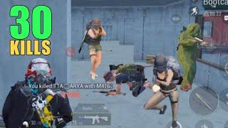 Aggressive 30 Kills Solo Vs Squad | PUBG Mobile