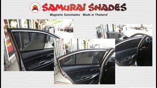 How To Install Magnetic Sunshades on Toyota Vios 2013 - 2019 | SAMURAI SHADES THAILAND