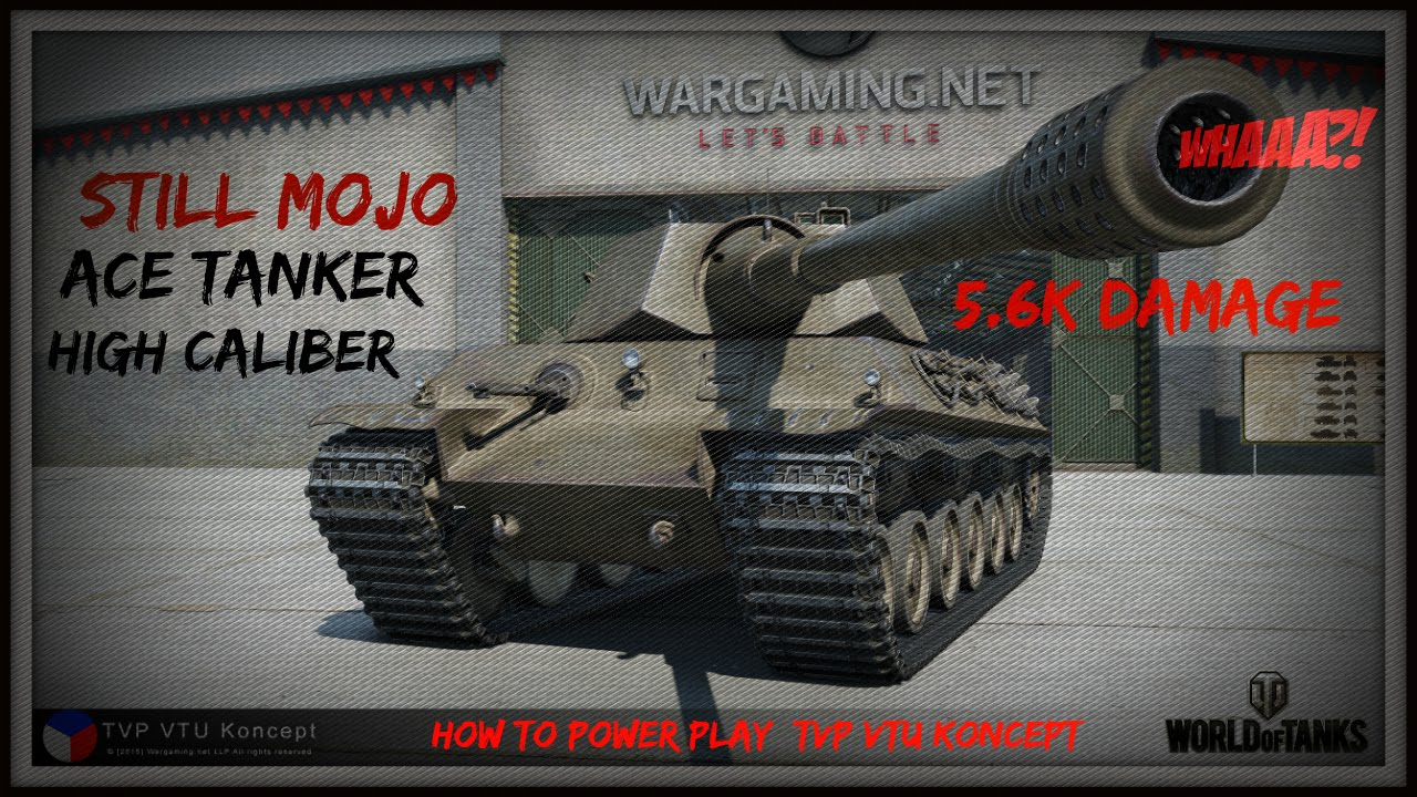 Wot Tvp Vtu Koncept High Caliber  K Damage By Still_mojo Kazna