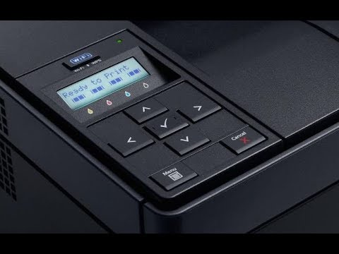 Dell 1350cnw Laser Printer Wireless Connection via Wifi Simply
