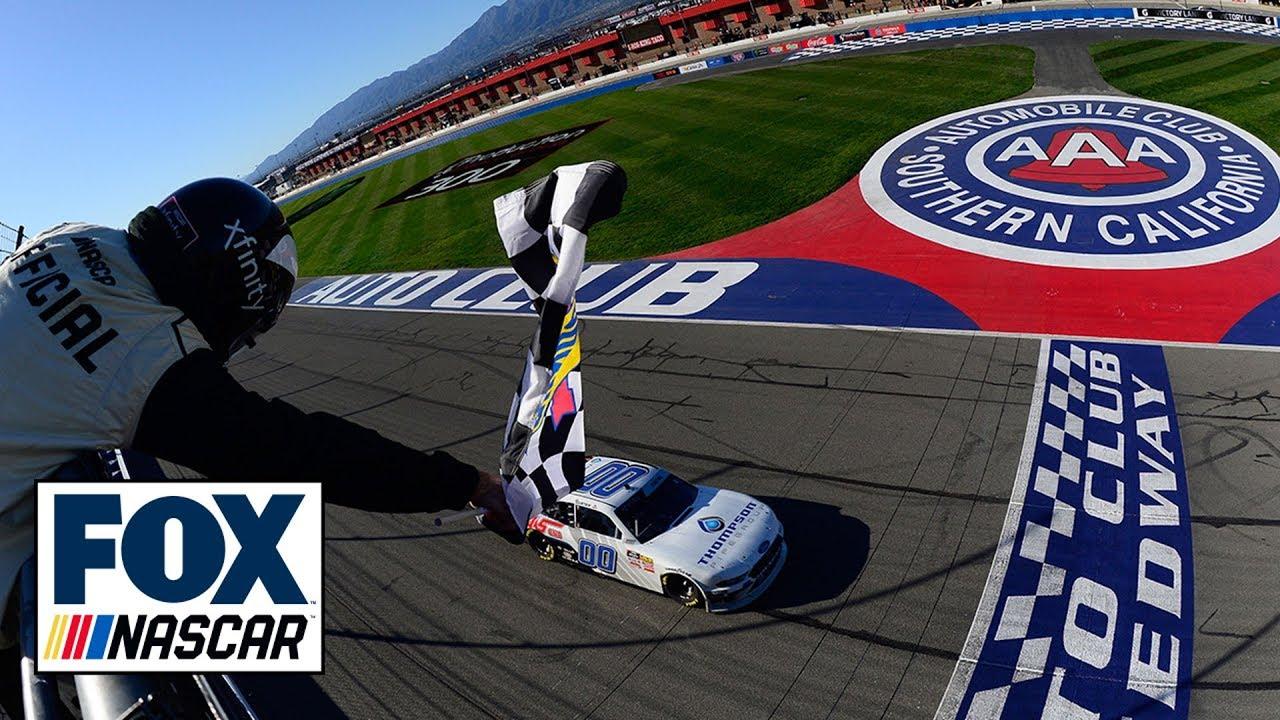 Cole Custer holds off Kyle Busch to claim NASCAR Xfinity win in California | NASCAR on FOX