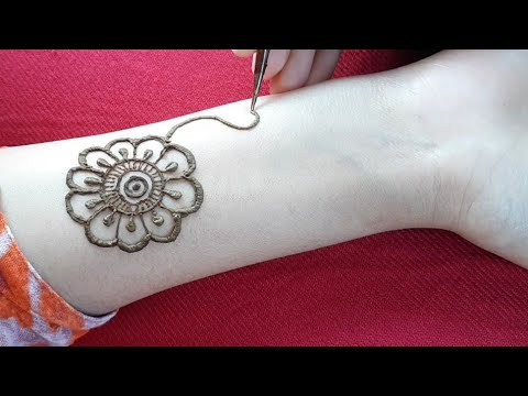 Very pretty mehndi design for front hands #3||simple mehandi designs ||मेहँदी डिजाईन ||mehendi thumbnail