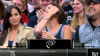 Selena Gomez at San Antonio Spurs Los Angeles Lakers Game