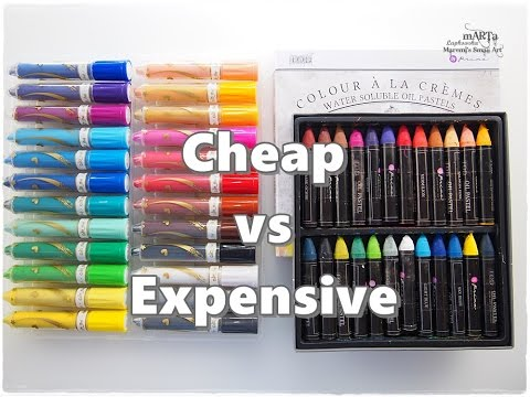 Cheap vs Expensive Art Supplies Oil Pastels