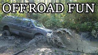 Ford Excursion Playing In The Mud And Off Road | 4x4 WINS