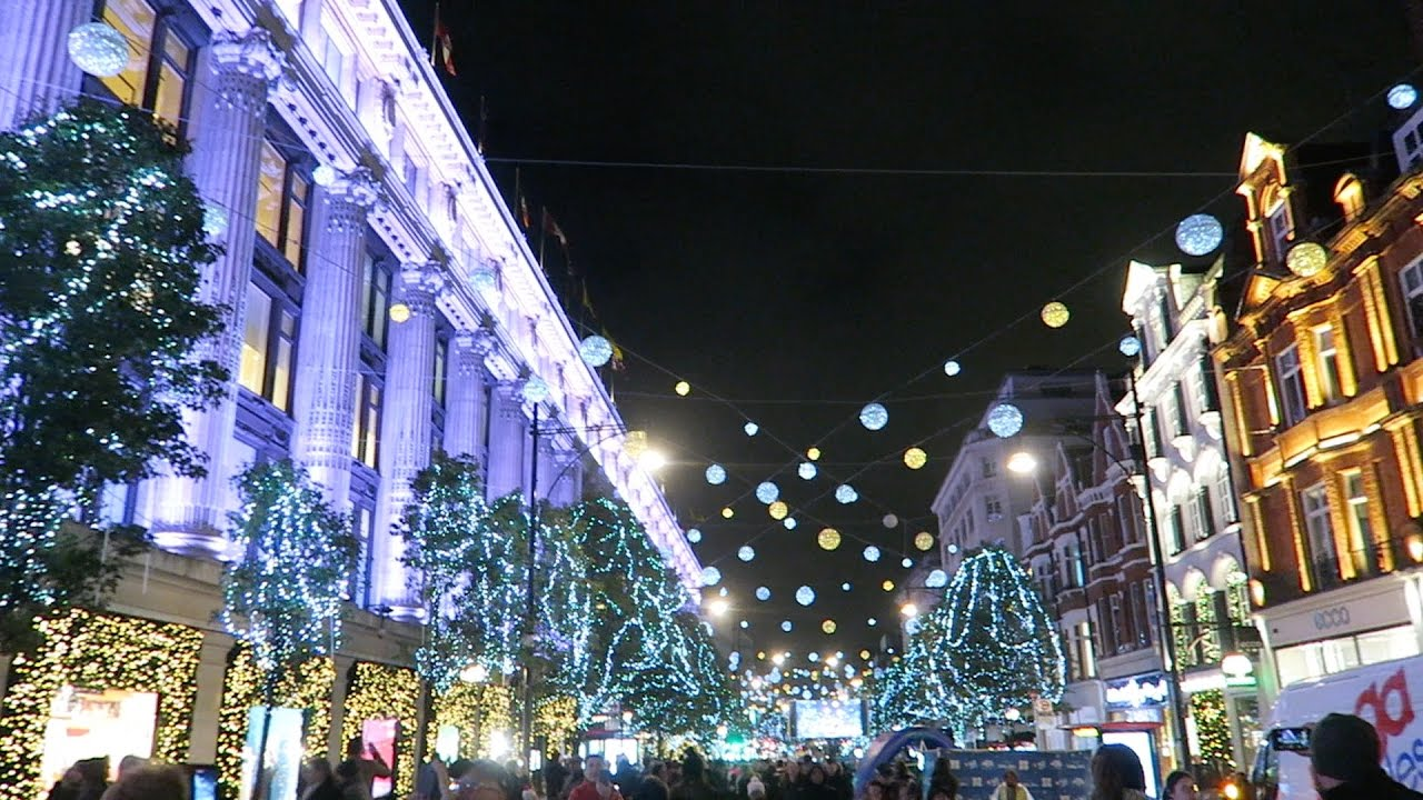official photos bb965 64931 Christmas lights in London Oxford Street Switched On