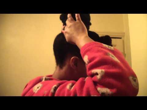 #63 Updo with kinky braiding hair